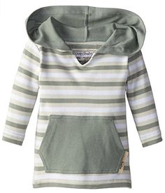 Lovedbaby UnisexBaby Newborn Organic Hoodie Seafoam Stripe 1218 Months * Read more reviews of the product by visiting the link on the image. (This is an affiliate link)