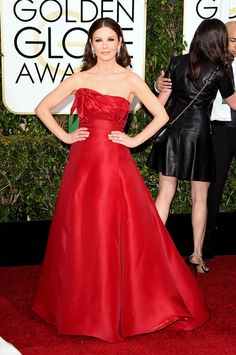 Catherine Zeta Jones...just gorgeous! Golden Globes 2015: Fashion—Live from the Red Carpet – Vogue