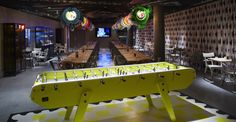 MAMA Shelter Hotel in Paris Love the foosball table!!!