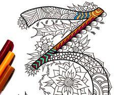 Number 8 Zentangle Inspired by the font Harrington por DJPenscript