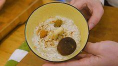 Bol déjeuner à l'avoine sans cuisson - Curieux Bégin Power Smoothie, Smoothie Bowl, Quebec, Best Breakfast, Breakfast Recipes, Poke Bol, Granola, Hummus, Oatmeal