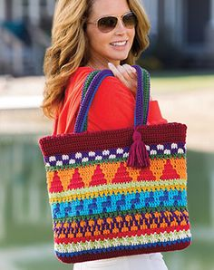 Drops Paris in this stranded crochet Market Tote!