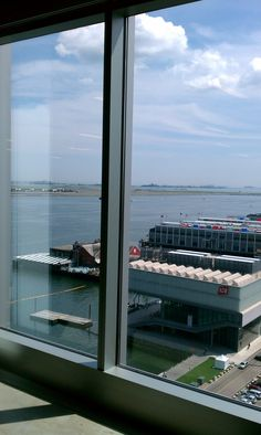 """Taken at the recent """"Art on the Roof: Boston venue: Looking out from over the Boston Harbor and ICA Boston Museums, Boston Harbor, Studio, Artist, Atelier, Paint, Studios"""