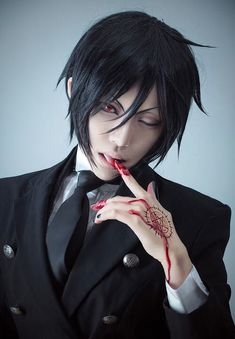 Black Butler * Kuroshitsuji * Anime cosplay * Sebastian * So kakkoi Anime Cosplay, Cosplay Boy, Epic Cosplay, Cosplay Makeup, Amazing Cosplay, Cosplay Costumes, Ciel Cosplay, Cosplay Style, Vocaloid Cosplay