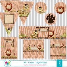 Artes para festa no tema Safari - Safari Printable Party