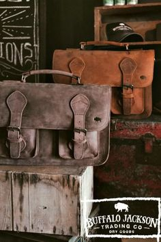 Carry a bag that means something. This men's brown leather briefcase bag is handcrafted to handle a lifetime of business, luxury, adventure, and more. Fashion meets function when a briefcase is as sturdy as it is stylish. This is the bag for the rugged gentleman. #leatherbriefcase #briefcasebag #giftsforhim Leather Duffle Bag, Leather Briefcase, Leather Satchel, Leather Bags, Men's Briefcase, Leather Jackets, Duffle Bags, Messenger Bags, Tote Bags