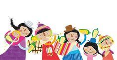 cuento aymara Arte Latina, Beach Kids, Print Wallpaper, Children's Book Illustration, Art Forms, Graphic Art, Artsy, Art Prints, Drawings