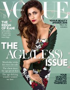 Vogue India August 2015 | Rani Mukherjee on the Magazine Cover
