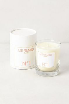 I can continue my mermaid fantasy with this mermaid candle from #anthropologie xoSocialite
