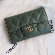 Chanel Classic Small Quilted Wallet Style code: Size: x x inches Chanel Wallet, Chanel Purse, Unique Selling Proposition, Pocket Books, Slg, Small Quilts, Birkin, Continental Wallet, Hermes