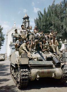 Sicilia, 1943. Foto coloreada.