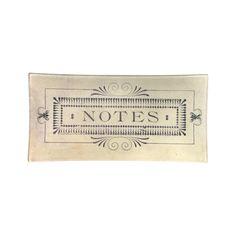 John Derian Notes Pencil Tray // whitesmercantile.com