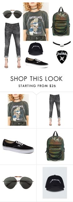 """""""#metallica"""" by luna-wed ❤ liked on Polyvore featuring Long Gone, Dsquared2, Vans, Ash and Valentino"""