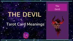 Devil Tarot Card Free Tarot, Tarot Card Meanings, Meaningful Life, Major Arcana, Tarot Cards, Devil, Insight, Meant To Be, Videos
