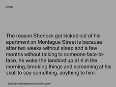 CORRECTION: After two weeks without eating, Sherlock would be dead, but funny nonetheless.
