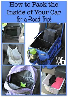 I've worked hard to create a system to keep things neat and organized so the kids can find what they are looking for, and have a great time during all those hours that were spending on the road. So here is how to organize the inside of your car when packi Road Trip With Kids, Family Road Trips, Travel With Kids, Family Travel, Family Vacations, Pack For Road Trip, Round Travel, Toddler Travel, Road Trip Packing