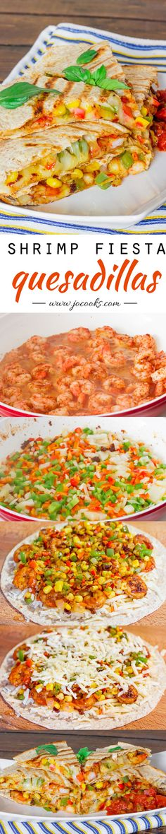 Shrimp Fiesta Quesadillas