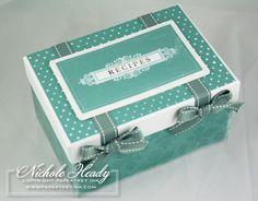 Recipe Box & Recipe Box Label