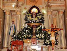 Altar Mayor, Parroquia del Divino Salvador, San Salvador Huixcolotla, Pue.  Cortesía de Enrique Tamayo López Biosca.