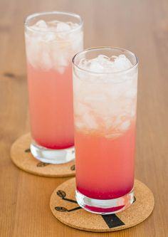 Raspberry Fizz - a perfect refreshing non alcoholic beverage to quench your summer thirst.