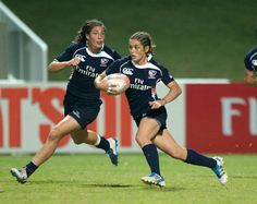 Female rugby athletes