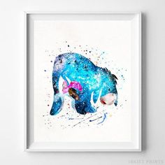 Eeyore, Winnie the Pooh Watercolor Art. This art illustration is a composition of digital watercolor images and silhouettes in a minimalist style. Watercolor Disney, Watercolor Images, Watercolor Walls, Watercolor Ideas, Watercolors, Hades Disney, Disney Posters, Art Posters, Disney Artwork
