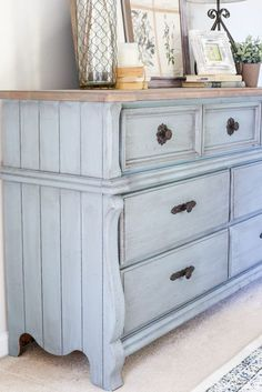French Blue Dresser