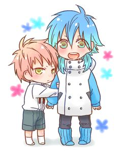 Awww look at baby noiz with little aoba