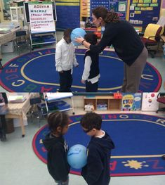 Balloon Relay: A cooperative game to practice working cooperatively and thinking creatively.