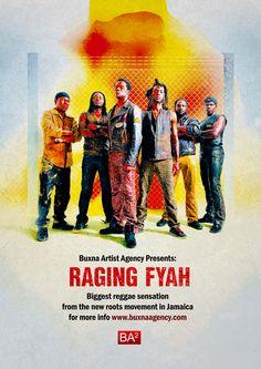 Raging Fyah - 2013 Tour - Poster
