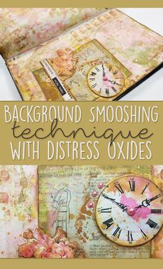 Art Journal Background Technique with Distress Oxide Inks - Mixed Media Art Journal