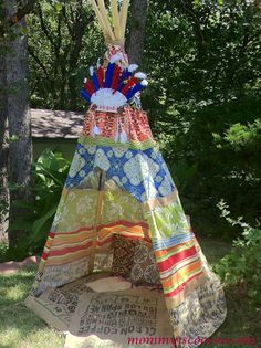 mommy is coo coo: How to Make a Collapsible No Sew Teepee