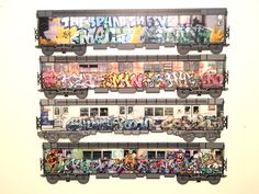 Limited edition , New York City Original Subway art collection. American Graffiti Hybrid quality limited edition laser cut flat trains . #graffiti #streetart #urbanart