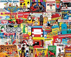In the 1000 piece jigsaw puzzle, I Had One of Those by White Mountain, a collage of all sorts of vintage games is depicted. The variety in this puzzle is unparalleled to any others! New Puzzle, Puzzle 1000, Puzzle Art, 300 Piece Puzzles, Puzzle Pieces, Mystery Date, Challenging Puzzles, Spirograph, Game Sales
