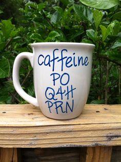 Coffee Mug Nurse Mug Doctor Mug  Medical by JustABrushAndPaint, $6.00