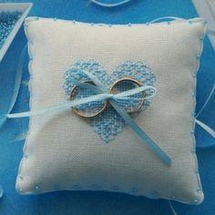Свадебная подушечка для колец Голубая соната