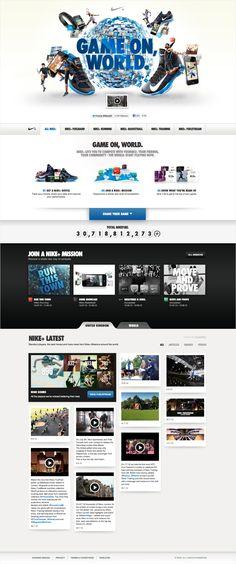 #Nike Game on, World. - Robert Northam / Art Direction + Design #Webdesign