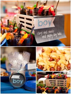 gender reveal party food