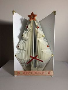 Christmas Tree Book Folding Pattern 178 Folds by Meggymoonbeams on Etsy