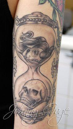 tasha hour glass tattoo by johnny gage, via Flickr