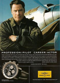Breitling navitimer john travolta brand ambassadors pinterest john travolta and for John travolta breitling