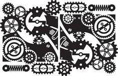 steampunk gear stencil - Google Search