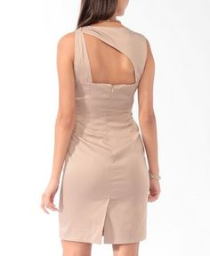 Satin Asymmetrical Cutout Dress | LOVE21 - 2000045198