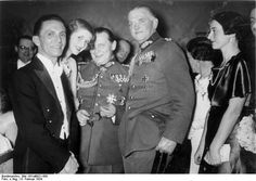 Goebbels, Göring, and Blomberg at the Press Ball, Berlin, Germany, 8 Feb 1934