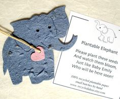 My love of elephants is probably not healthy Plantable Elephants - DIY Baby Shower Favor with Flower Seeds - Kids Birthday Party Favor on Etsy