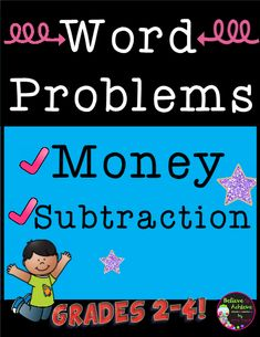 Word Problems- Money and Subtraction