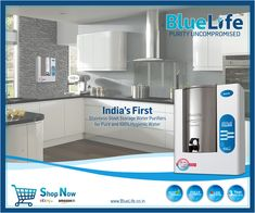 BlueLife TulipsRED, Digital RO Water Purifier   THE GUARANTEE OF PURE AND 100% HYGIENIC WATER • Detachable Stainless-Steel Storage Tank  • Digital RO™ Technology  • 50% Recovery • Aluminium Body • 3 Years Warranty • Surprise Gift(s) worth Rs.990/- Ro Water Purifier, Healthy Water, Art And Technology, Drinking Water, Stainless Steel, India, Pure Products, Storage, 3 Years