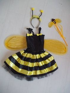 Tulle Costumes, Girls Dance Costumes, Tutus For Girls, Kids Outfits Girls, Girl Outfits, Bee Halloween Costume, Halloween Costumes For Girls, Diy Tutu, Other Outfits