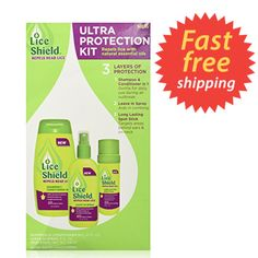 NEW - Lice Shield Ultra Protection 3-Piece Kit  #LiceShield