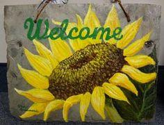 garden slates So Little Time, Garden Art, Slate, Porch, Creativity, Diy Projects, Inspire, Diy Crafts, Hand Painted
